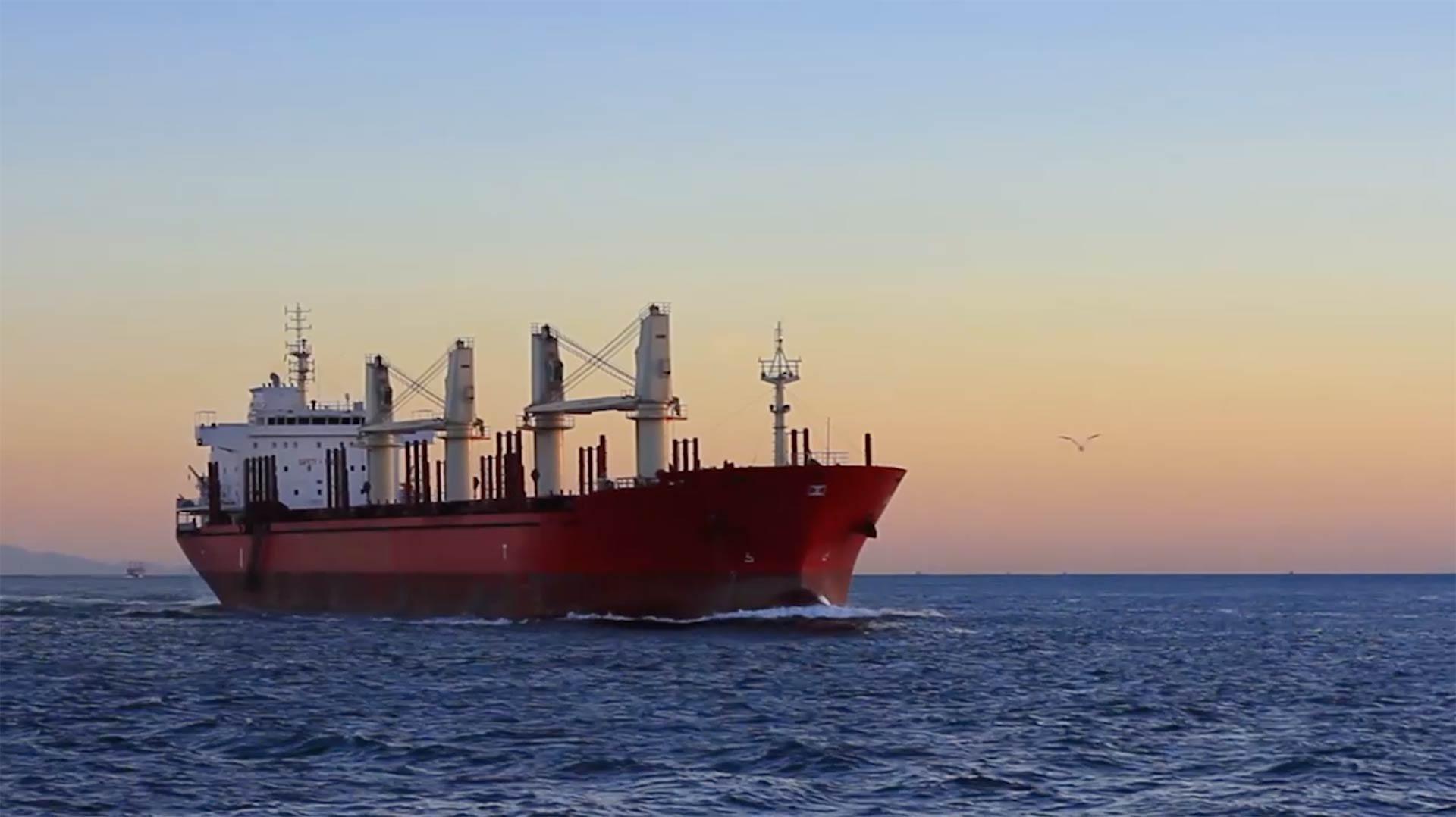 ship navigating on open sea